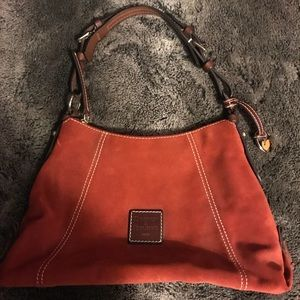 NEW Dooney & Bourke Amber Suede & Leather Bag